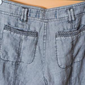 Anthropologie Pants - Anthropologie hei hei linen Marlena Crop Trouser